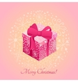 Gift box with ribbon design graphic template vector image