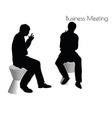 man in Business Meeting pose vector image