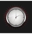 modern watch icon with rays on black vector image