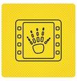 Hand X-ray icon Human skeleton sign vector image