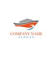 boat logo design 2 vector image vector image