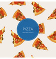top view of pizza - seamless pattern vector image