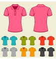Set of templates colored polo shirts for women vector image vector image