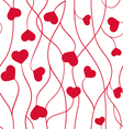 Seamless pattern hearts Valentine symbol vector image vector image
