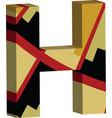 3d font letter h vector image