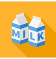 Milk flat icon vector image