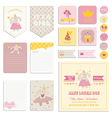 Baby Shower Girl Set - Tags Banners Labels Cards vector image