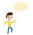 cartoon man with popping out eyes with speech vector image