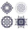 Setn with design elements vector image vector image