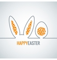 Easter bunny with egg abstract background vector