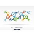 Education Growth abstract background with vector image vector image