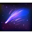 Space Scene With Comets Background vector image vector image