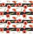 Watercolor poppy flowers pattern vector image vector image