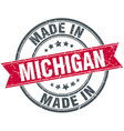 made in Michigan red round vintage stamp vector image