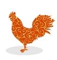 Cock Vintage silhouette pattern bird vector image