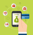 Concepts of online payment methods Icons for vector image