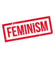 Feminism rubber stamp vector image