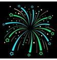Firework Explosion design on black background vector image