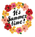 floral its summer time vector image