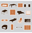 furniture stickers eps10 vector image