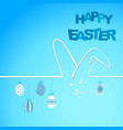happy easter background with ears rabbit and eggs vector image