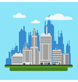 Megapolis Landscape with Modern Buildings vector image