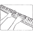 Pianist hands vector image