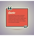 Quote card in retro vintage style vector image