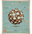 Retro Infographic Sphere vector image