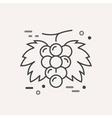 Simple Logo Template Grape vector image