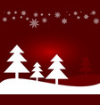 winter and christmas background vector image
