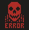 virus skull hacker vector image
