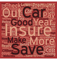 Car Insurance Top Tips text background wordcloud vector image