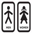 Man and women restroom sign vector image