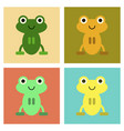 assembly flat icons cute frog cartoon vector image