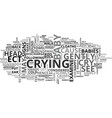 what to do when your kids cry text word cloud vector image