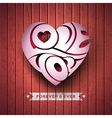 Valentines Day with 3d Love You vector image vector image