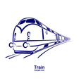 Train 2 vector image