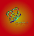 Heart Butterfly Logo vector image