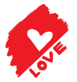 abstract love symbol vector image vector image