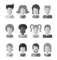 Black and white flat design people icon social vector image