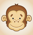 Cute Monkey Face vector image vector image