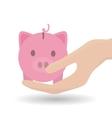 piggy icon design vector image