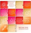 Flat medicine infographic design vector image