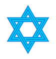 jewish star of david six pointed star in black vector image