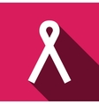 Ribbon breast cancer awareness symbol vector image