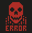 virus skull hacker vector image