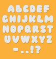 White paper style alphabet font vector image
