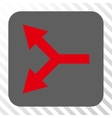 Bifurcation Arrow Left Rounded Square Button vector image