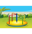 A merry-go-round playing equipment vector image vector image